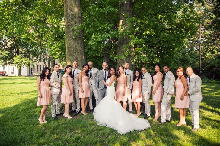 Light Pink and Grey Bridal Party