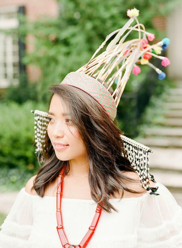 Bride Wearing Traditional Mizo Attire