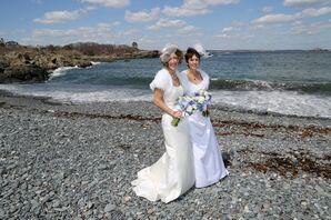 Jules and Linda on Nahant, Massachusetts Beach
