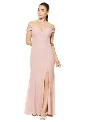 #LEVKOFF 7115 Off the Shoulder Bridesmaid Dress