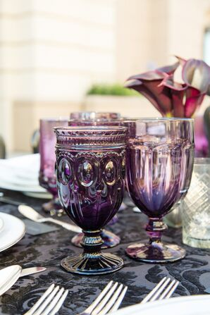 Glam Purple Glassware