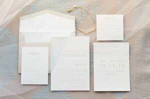 Ivory Custom Wedding Invitations