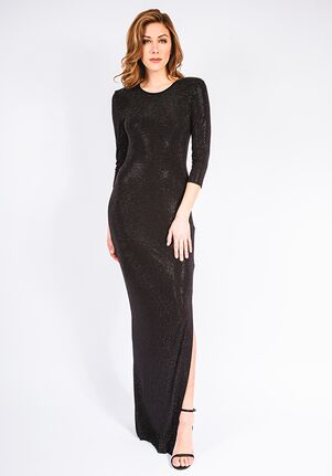 Grayse Wedding Party Pave Column Gown Dress - W1411014 Black Mother Of The Bride Dress