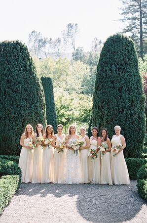 Long Ivory Bridesmaid Dresses