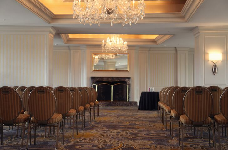 """""""Intercontinental was a modern ballroom on the top floor with windows that overlooked the plaza,"""" Julie says. """"It was beautiful and romantic."""""""