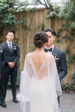Glam Organza Bridal Cape