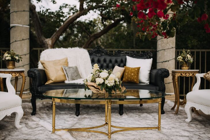 Glam Black, White and Gold Lounge Furniture