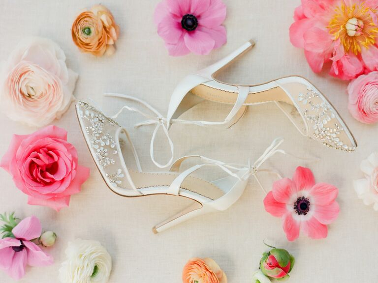 blue crystal jimmy choo wedding shoe