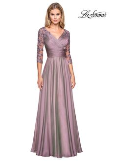 La Femme Evening 27153 Blue Mother Of The Bride Dress