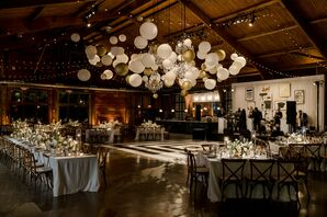 Balloon Installation Above Dance Floor at Cedar Lakes Estate in Port Jervis, New York