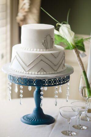 Wedding Cake With Art Deco Design
