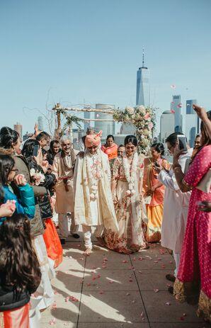 Rose Petal Recessional at Hindu Wedding