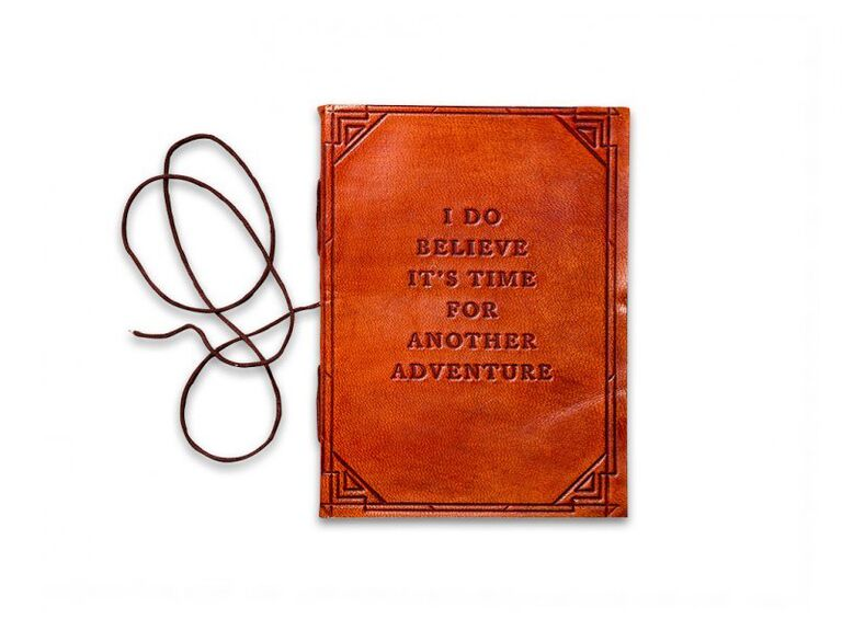 Adventure journal wedding gift for bride