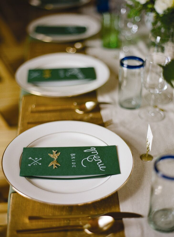 Each place card included either a song lyric about love or a quote about the love of eating and cooking.