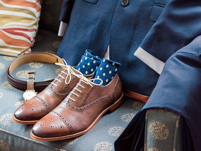 men's suit, shoes and accessories
