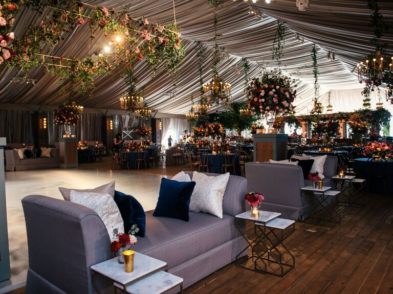 winter wedding ideas tented space