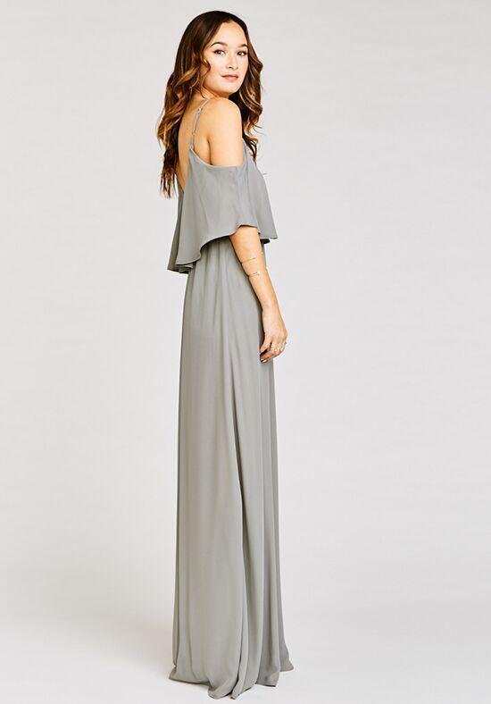 4331e6e918f5a Show Me Your Mumu Caitlin Ruffle Maxi Dress - Soft Charcoal Crisp  Bridesmaid Dress | The Knot