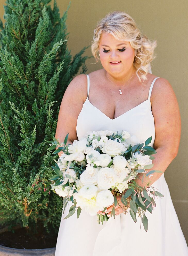 Bride with Bouquet at Carneros Inn in Napa, California