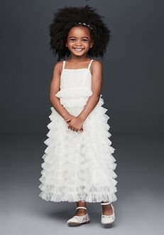 David's Bridal Flower Girl David's Bridal Style CR1401 White Flower Girl Dress