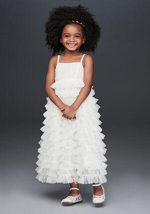 David's Bridal Flower Girl David's Bridal Style CR1401 White Flower Girl Dress