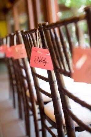 Brown Wood Chiavari Ceremony Chairs