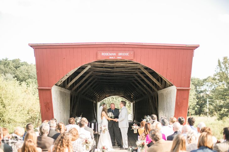 """The couple got married on the covered Roseman Bridge, made famous in """"The Bridges of Madison County,"""" one of Italia's favorite books."""