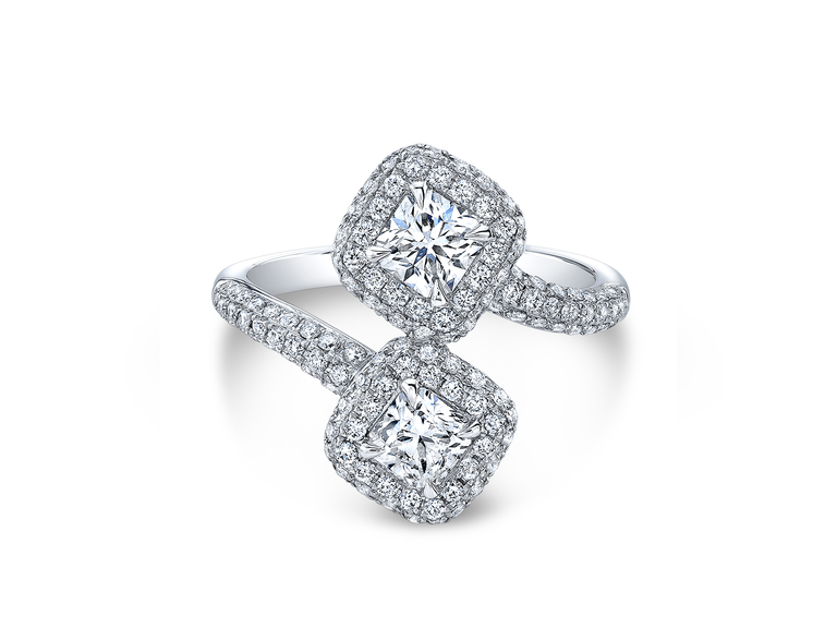 Forevermark two stone engagement ring