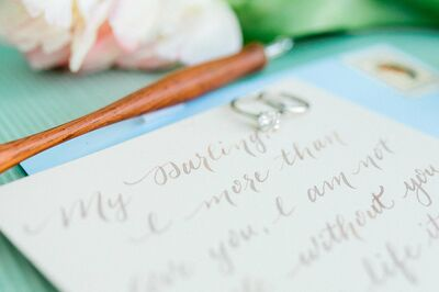 Love Letter Gray Calligraphy