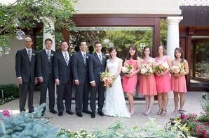 Short Coral J.Crew Bridesmaid Dresses