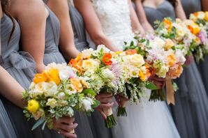 Yellow, Orange and White Wildflower-Inspired Bouquets
