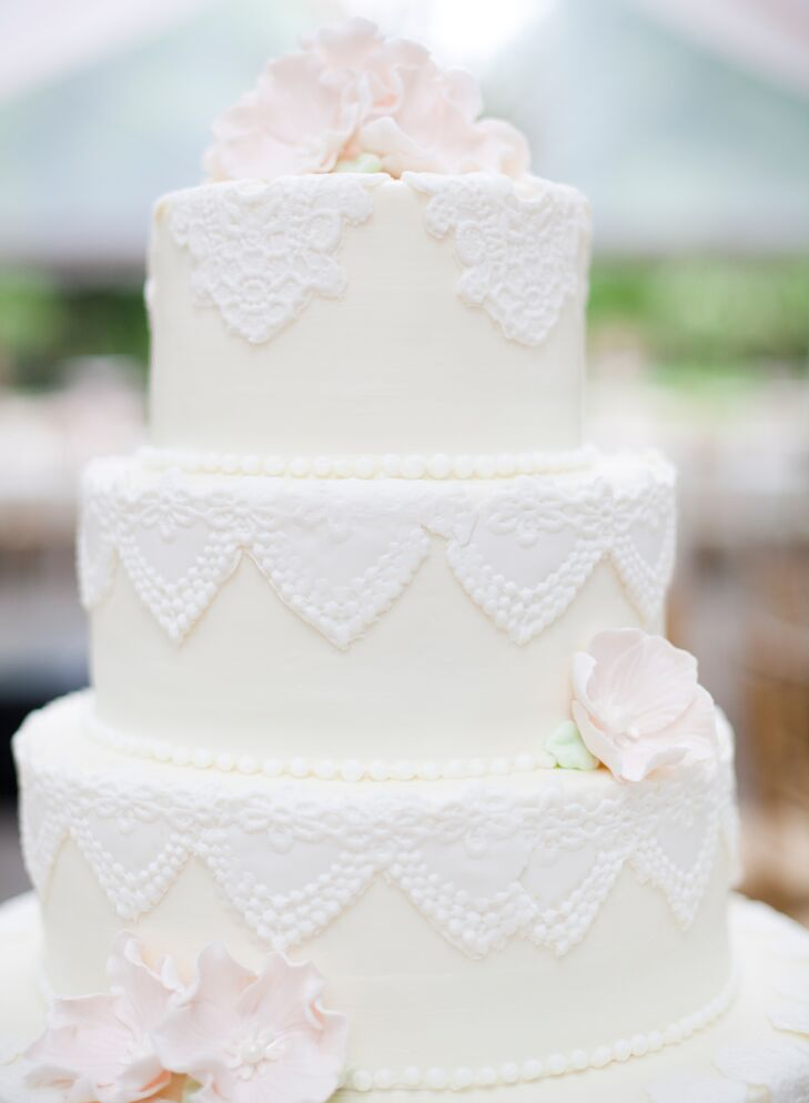 Vintage Fondant Lace Wedding Cake