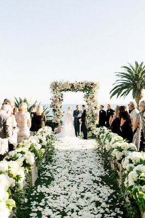 Floral Chuppah at Luxurious Bel-Air Bay Club Wedding in California