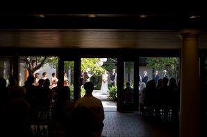 Layne and Alex's Courtyard Wedding Ceremony