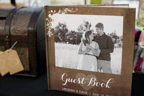 Traditional Guest Book With Engagement Picture