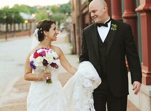 The Bride Sharon Molofsky, 29, sales and support manager at Marriott International Headquarters in Bethesda The Groom Brad Garner, 29, financial advis