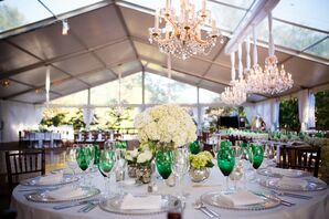 A Shabby Chic White and Green Reception