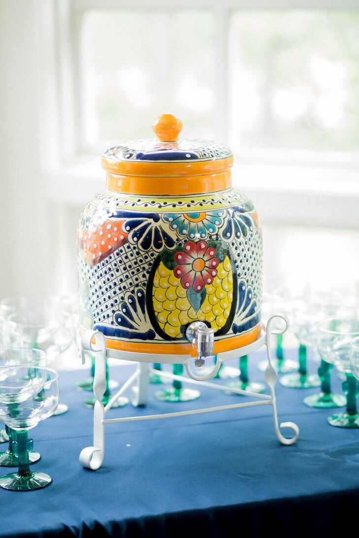 Patterned Ceramic Drink Dispenser