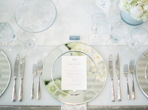 Glamorous Place Settings with Mirrored Chargers
