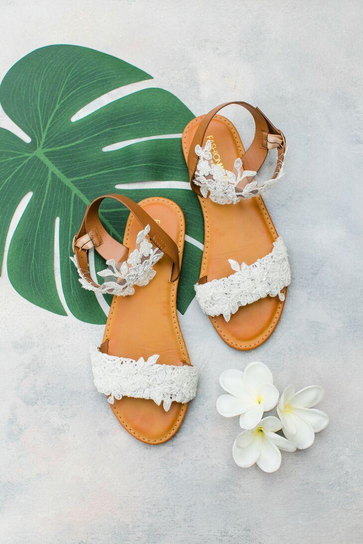 Sandals for Summer Wedding at Villa Riposo in Morgan Hill, California