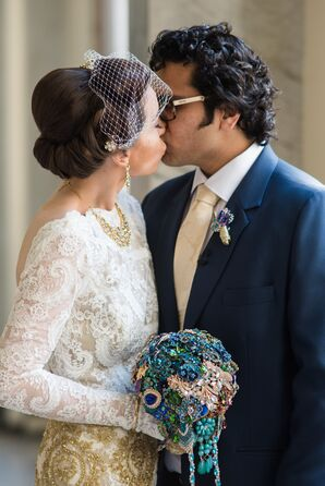 Brooch Bouquet and Boutonierre