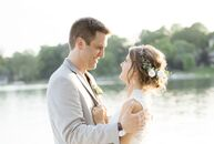When it came time to wed, Shannon Emmons (26 and a registered nurse) and Lucas Daniels (28 and a director of photography) chose to marry at the groom'