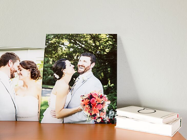 Acrylic print of a wedding photo