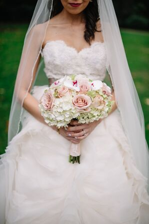 Hydrangea, Rose and Orchid Bouquet
