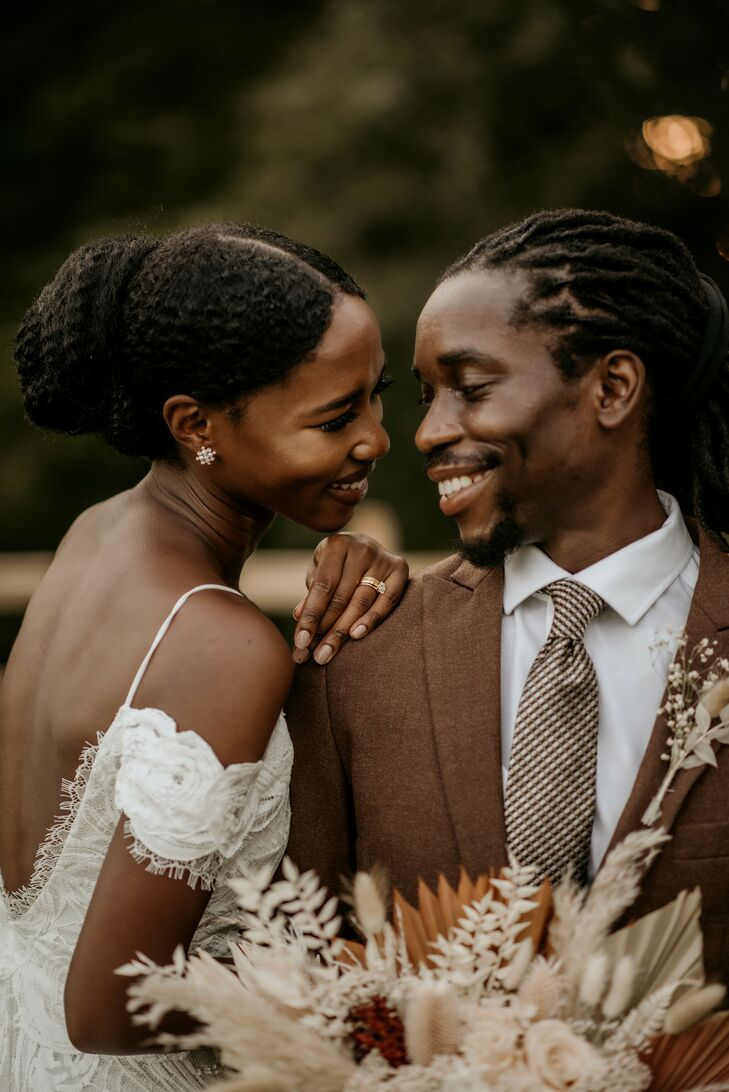 Couple Shares Embrace During Wedding in Durham, North Carolina