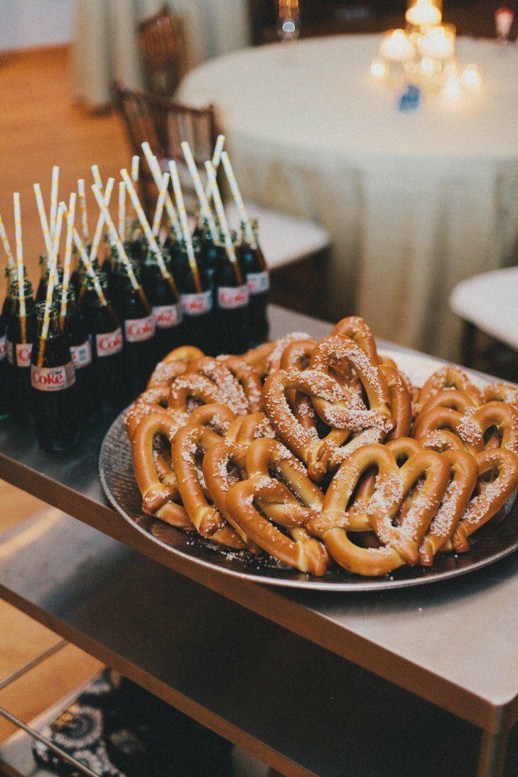 Coke bottle and pretzel pairing