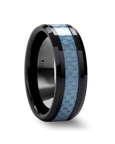 Mens Tungsten Wedding Bands C692-BCCF Tungsten Wedding Ring