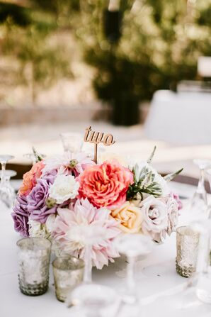Sunset-Hued Floral Centerpieces