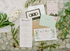 Modern and Retro Wedding Invitations