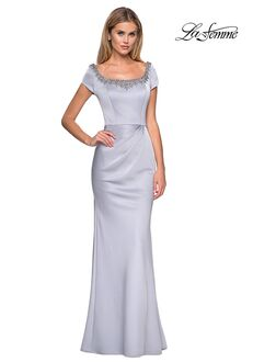 La Femme Evening 27244 Gray Mother Of The Bride Dress