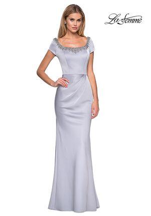La Femme Evening 27244 Gray Mother Of The Bride Dress